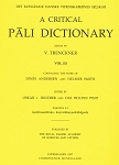 Critical Pali Dictionary, A Vol. III - Fascicle 4-5