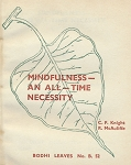 Mindfulness:  An All-Time Necessity