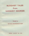 Buddhist Tales from Sanskrit Sources