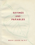 Sayings & Parables