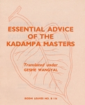 Essential Advice from Kadampa Masters