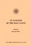 Analysis of the Pali Canon, An