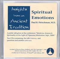 Spiritual Emotions 2 CD Set <br /><span>Vipassana</span>