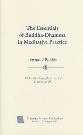 Essentials of Buddha-Dhamma <br /><span>Vipassana</span>